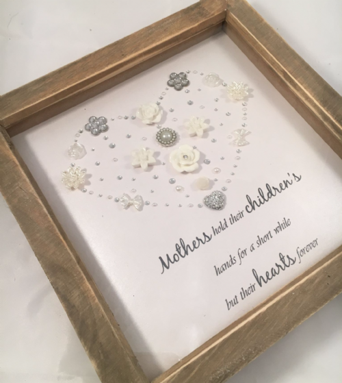 Mothers hold their children's hands keepsake frame